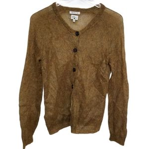 Vintage L.L.Bean Golden Mohair Cardigan Sweater S